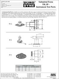 Duro Dyne TH IP Instrument Test Ports Submittal.pdf