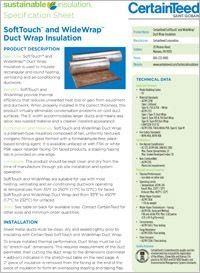 CT SoftTouch and WideWrap Duct Wrap Insulation Spec Sheet.pdf