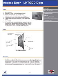 CL Ward Grease Duct Access Door LHTGDD.pdf