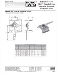 Duro Dyne SRST Standoff With Stampline Regulator  for Square Duct.pdf