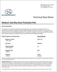 Bay Insulation Supply Medium Tack Blue Duct Protection Film Wrap.pdf